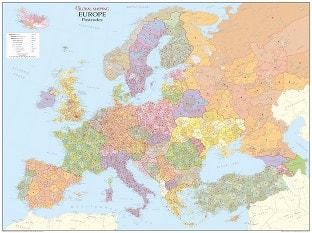 Kort over postnumre i Europa (GM)