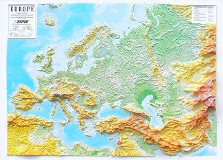3D Relief Panorama Europa