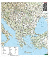 Balkan and Southeast Europe Wall Map Poster