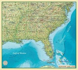 Südosten der USA 100 x 90cm