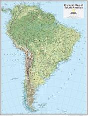 South America Physical 73 x 91cm