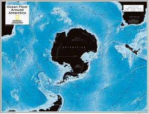 Antarctica Ocean Floor 91 x 73cm