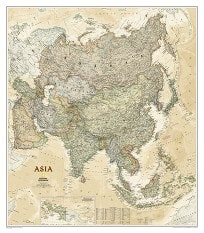 Political Asia Executive map from National Geographic