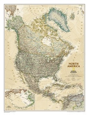 Executive North America Wall Map poster from National Geographic
