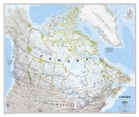 Kanada Landkarte als Poster von National Geographic