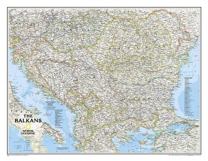 Balkans Wall Map