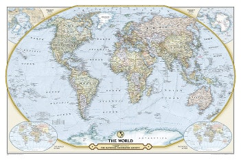 125th Anniversary National Geographic World Map