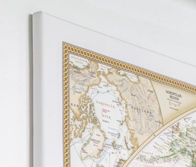 Weltkarten auf Canvas - Keilrahmen