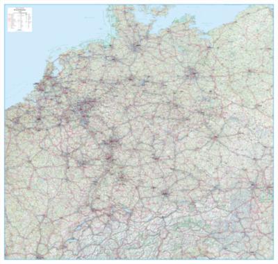 aktuelle Straßenkarten in Europa
