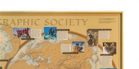 Pinboard gold framed Poster Wall Map Worldmap