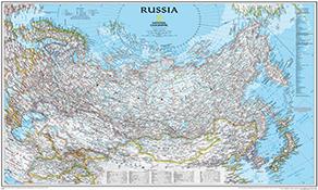 Asien vægkort