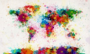 Moderne verdenskort