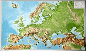 3D Relief Europakort