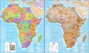 Afrika Kontinent Kort