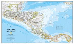 Mellem- og Sydamerika Kontinentskort