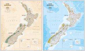 Land Kort New Zealand