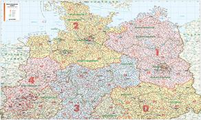 Tyskland Postnummer Kort Plakat