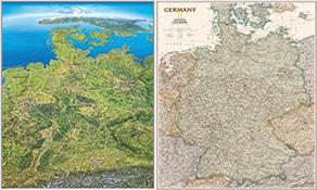 Tyskland Vægkort