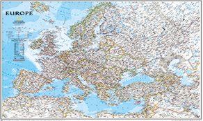 National Geographic Europa Kort