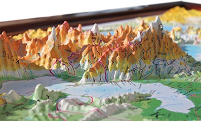 3D Relief Wall Maps