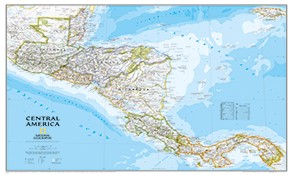 Country maps of Central- and Southamerica