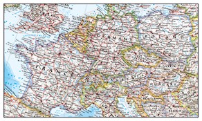 National Geographic Europe Maps