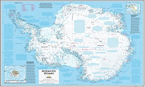 National Geographic Arctic and Antarctica Maps