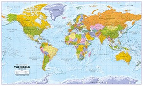 politische Weltkarten