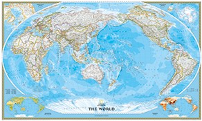 world maps in pacific view